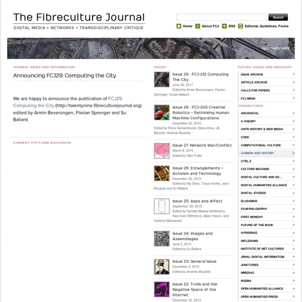 The Fibreculture Journal