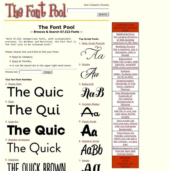 The Font Pool