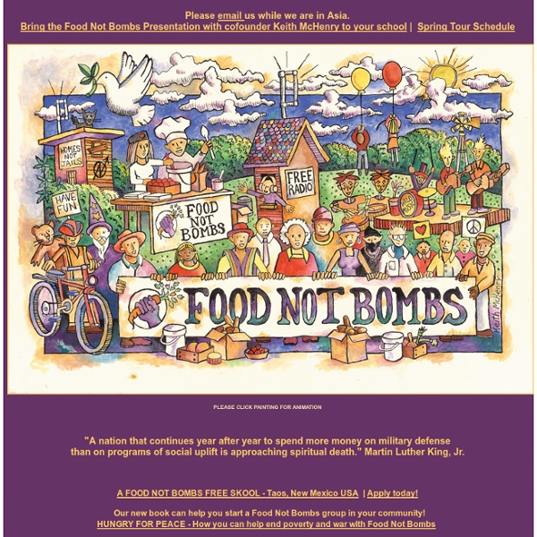 THE FOOD NOT BOMBS MOVEMENT