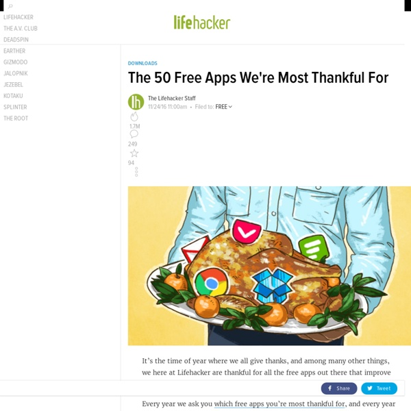 The 50 Free Apps We're Most Thankful For