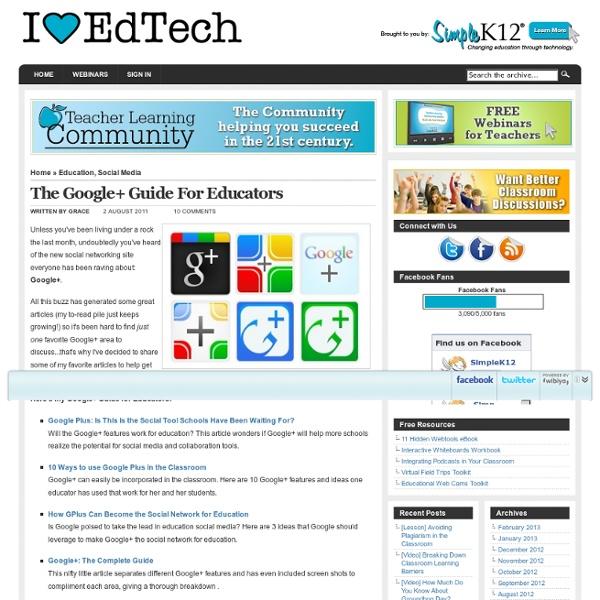 The Google+ Guide For Educators