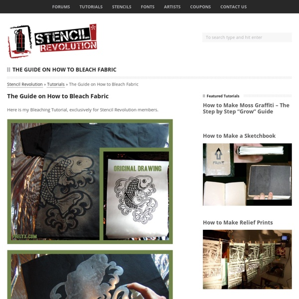 Bleach on fabric tutorial - Stencil Revolution