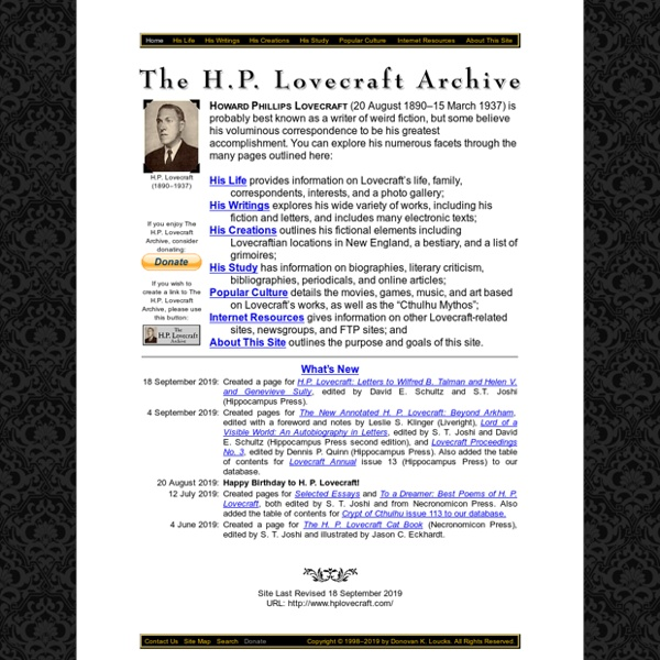 The H.P. Lovecraft Archive
