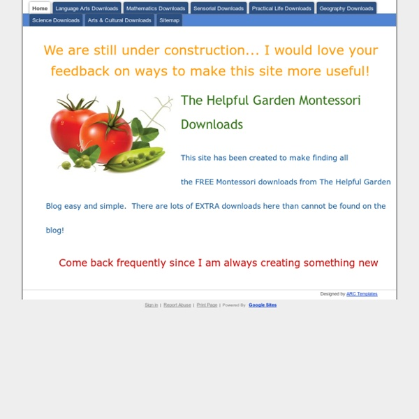 A imprimer The Helpful Garden Montessori