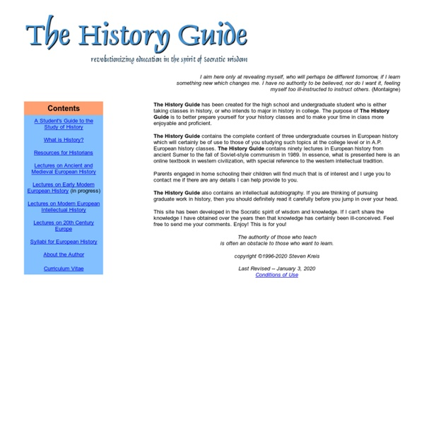 The History Guide