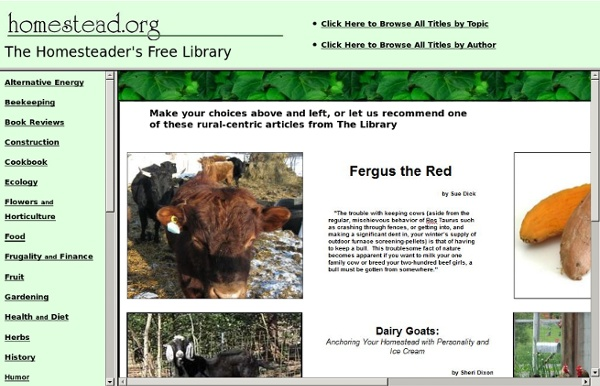 The Homesteader's Free Library