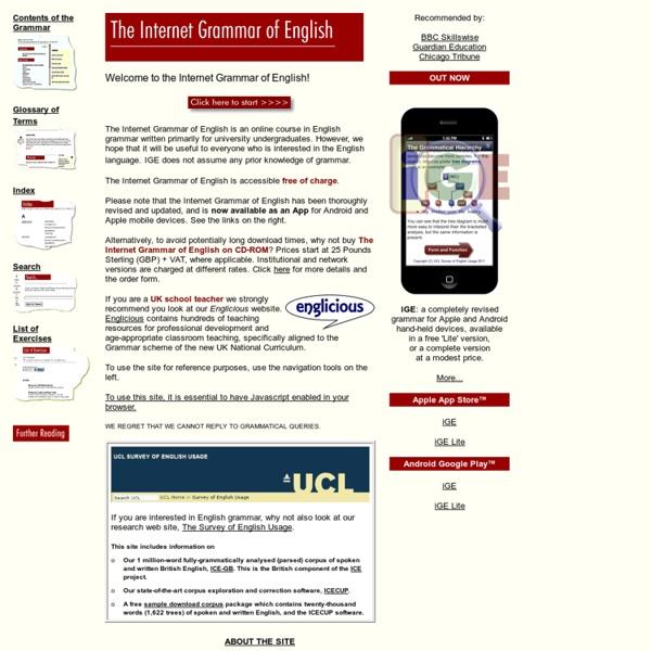 The Internet Grammar of English