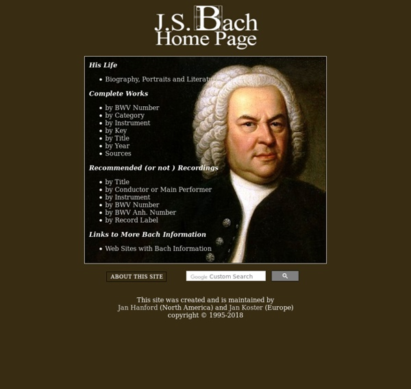 The J.S. Bach Home Page