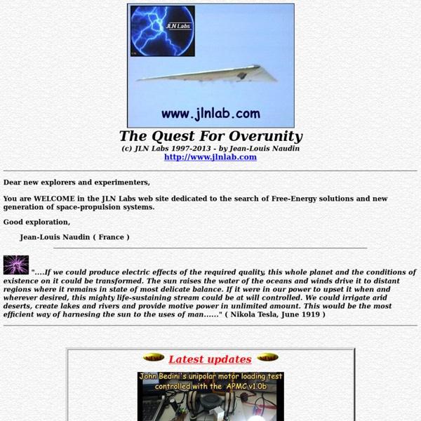 La page de JLN Labs maison