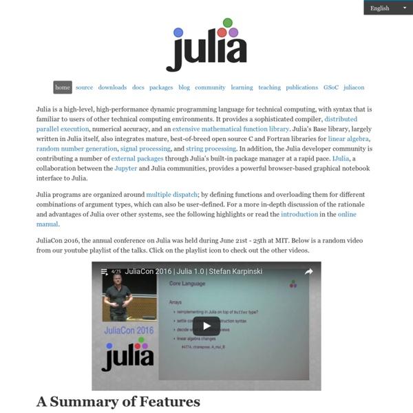 The Julia Language