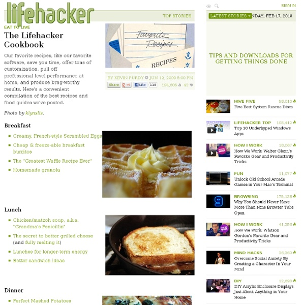The-lifehacker-cookbook from lifehacker.com