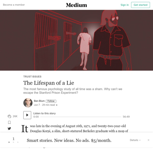 The Lifespan of a Lie – Trust Issues