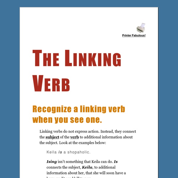 how to find linking verbs