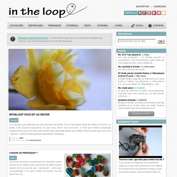 In the loop - Le webzine des arts de la laine