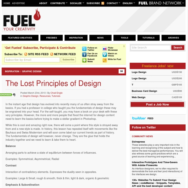 The Lost Principles of Design