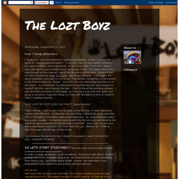 The Lozt Boyz: How I Study Animation