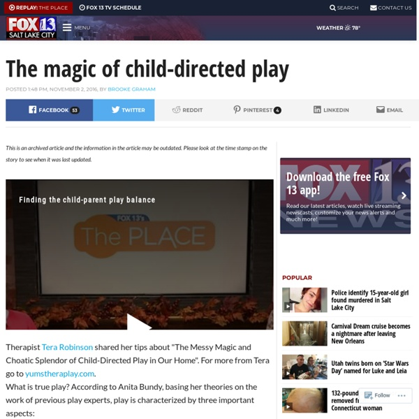 The magic of child-directed play