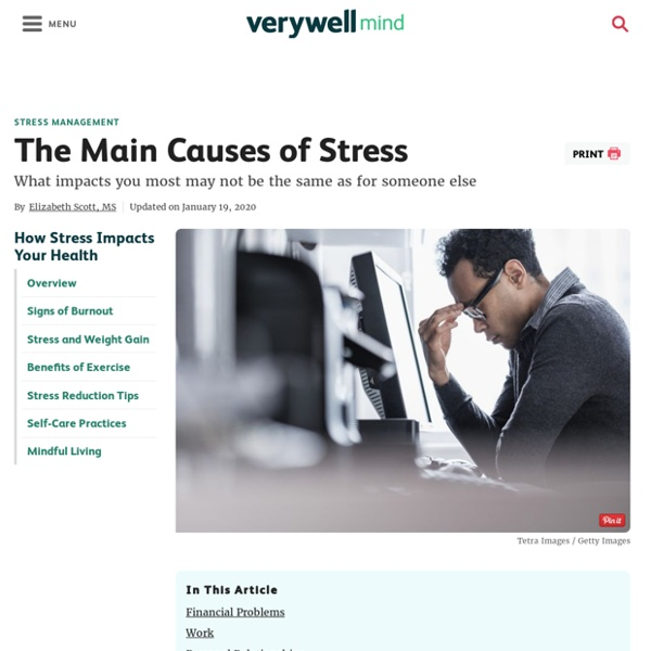 The Main Causes of Stress