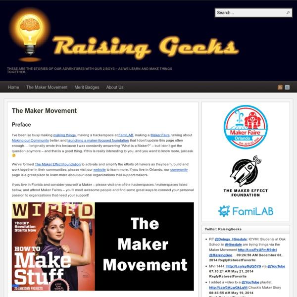 The Maker Movement