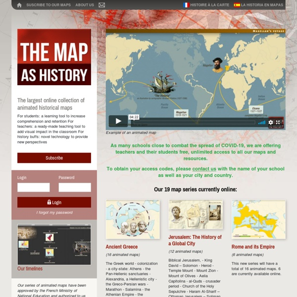 The map as history : a multimedia atlas of world history with animated historical maps