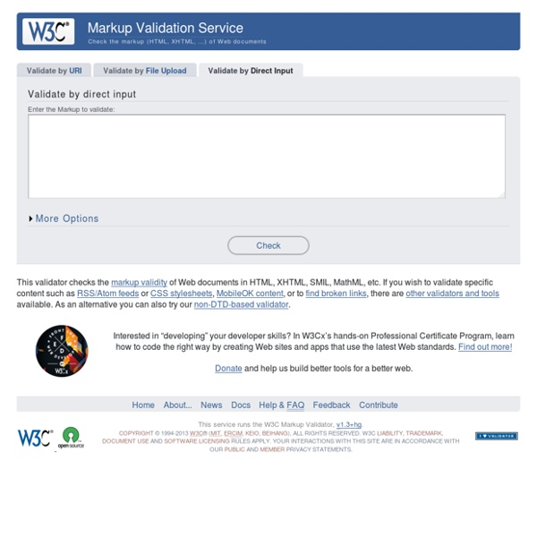 The W3C Markup Validation Service