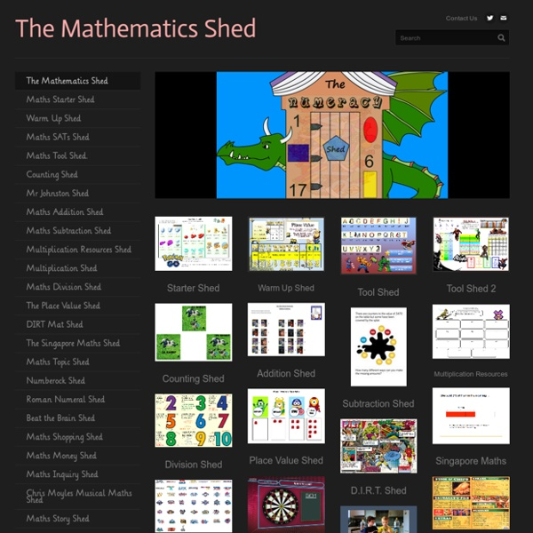 The Mathematics Shed - Mathematics Shed
