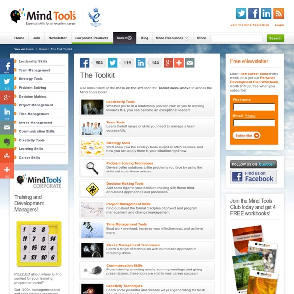 The Mind Tools Full Toolkit