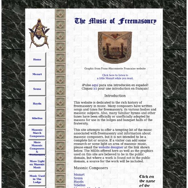 The Music of Freemasonry