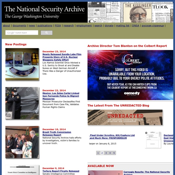 The National Security Archive