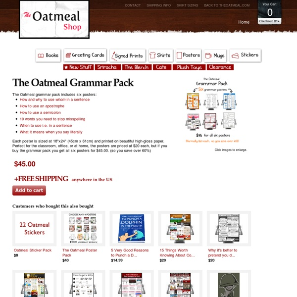 The Oatmeal Grammar Pack