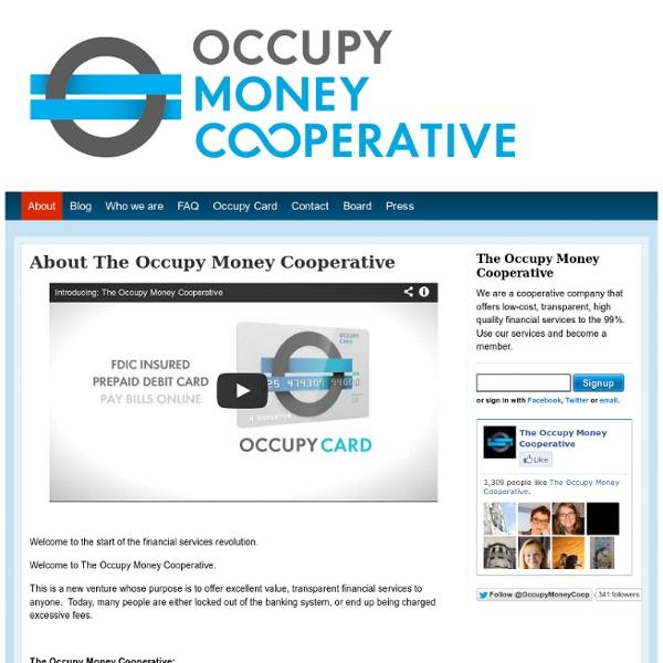 The Occupy Money Cooperative