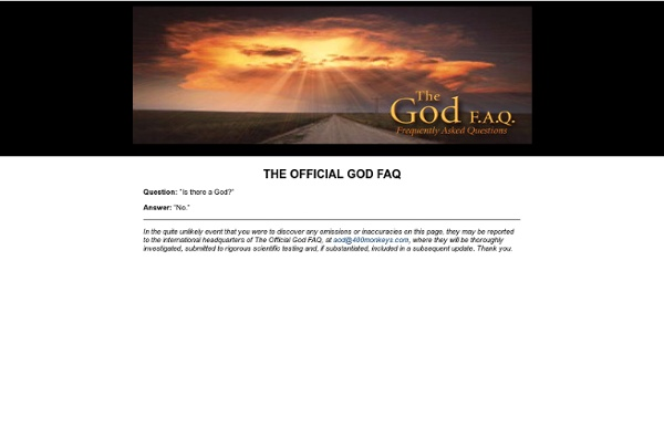 The Official God FAQ