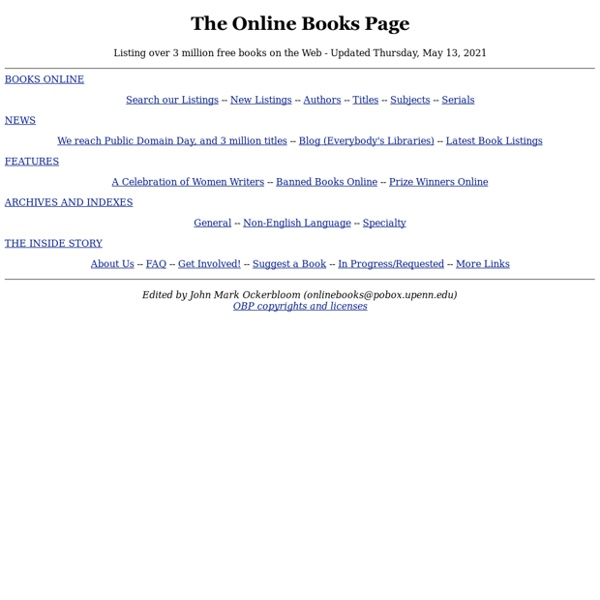 The Online Books Page