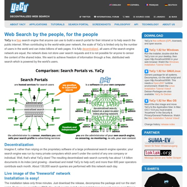 The Peer to Peer Search Engine: Home