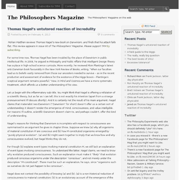 TPM: The Philosophers' Magazine
