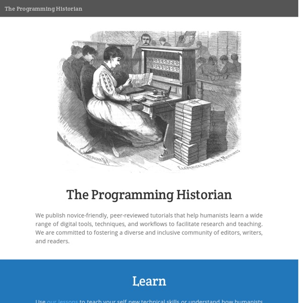 About the Programming Historian