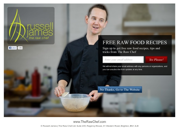 Russell James : Raw Food Recipes - Raw Food Diet