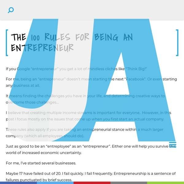The 100 Rules for Being an Entrepreneur