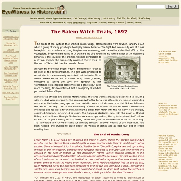 salem witch trial research papers The salem witch trials are one of the best known  printed from the oxford research encyclopedia  the salem witchcraft papers:.