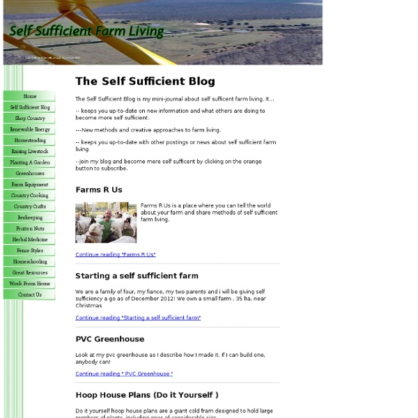 The Self Sufficient Blog