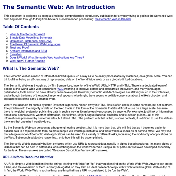 The Semantic Web: An Introduction