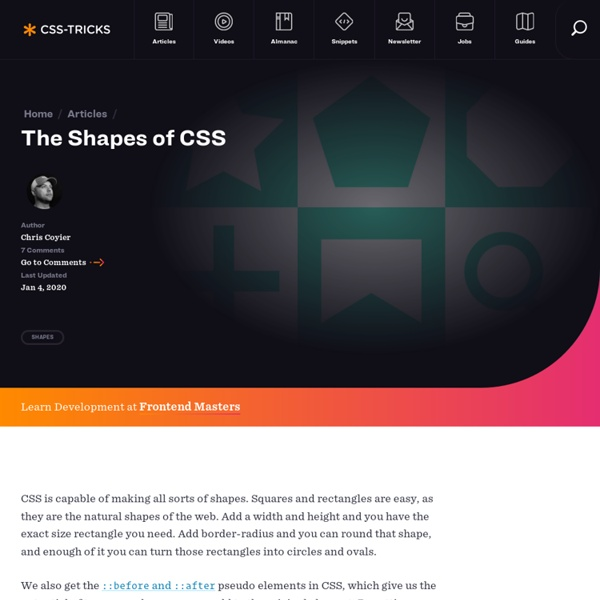 The Shapes of CSS