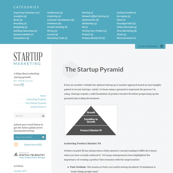 The Startup Pyramid