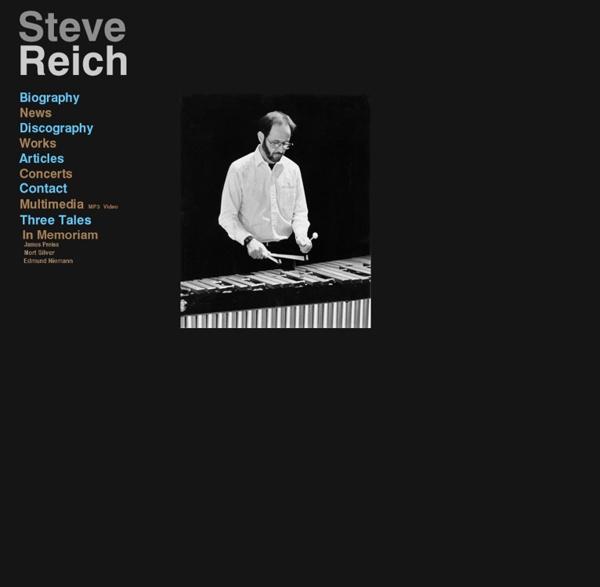 The Steve Reich Website