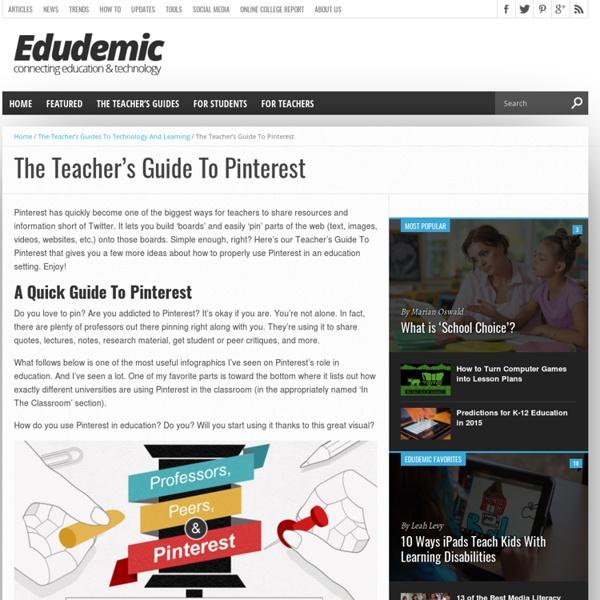 The Teacher's Guide To Pinterest