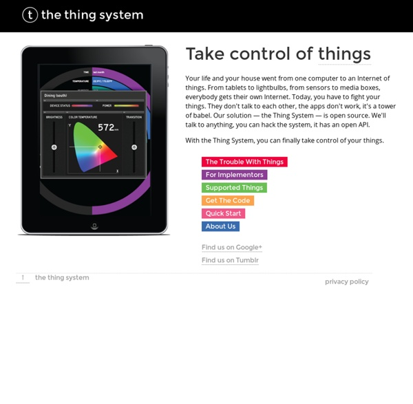 Ⓣ the thing system - Hello, world!