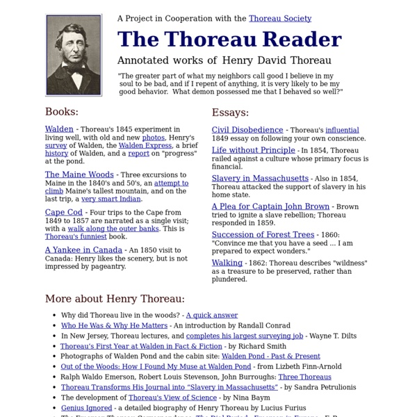 The Thoreau Reader