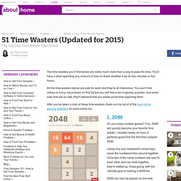 The Top 51 Time Wasters (Updated for 2015)