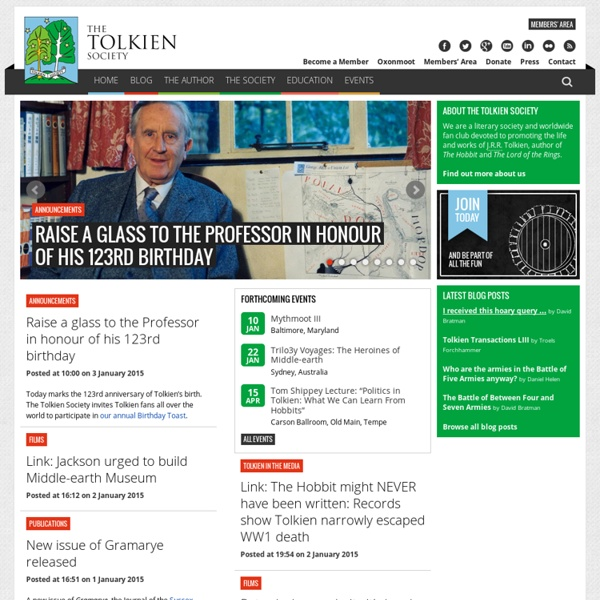 Home Page - The Tolkien Society