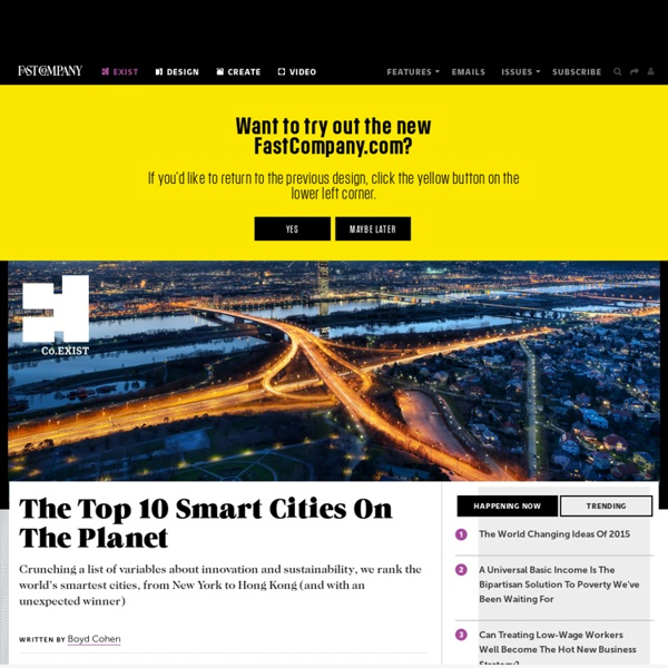 The Top 10 Smart Cities On The Planet Pearltrees